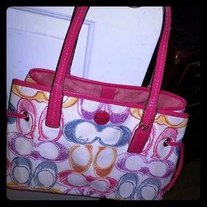 Genuine Coach med handbag, some light stains